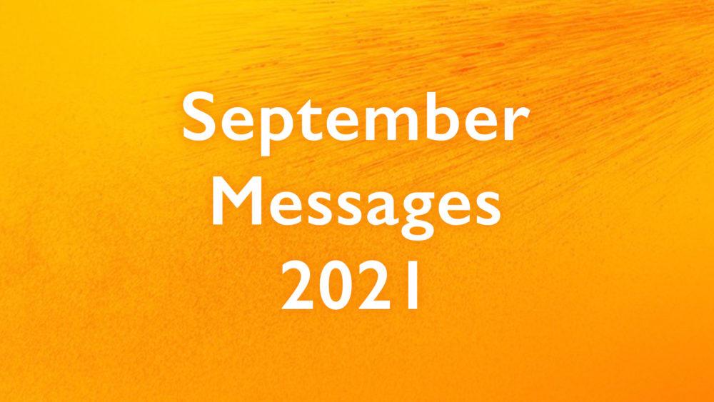 September Messages 2021
